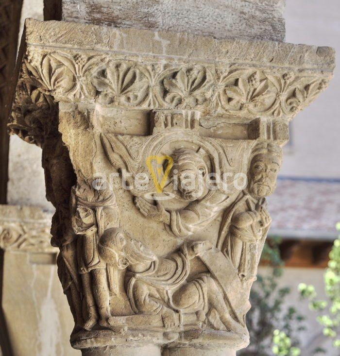 capitel con la caída de damasco