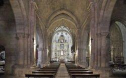 interior de la iglesia de santo domingo de soria