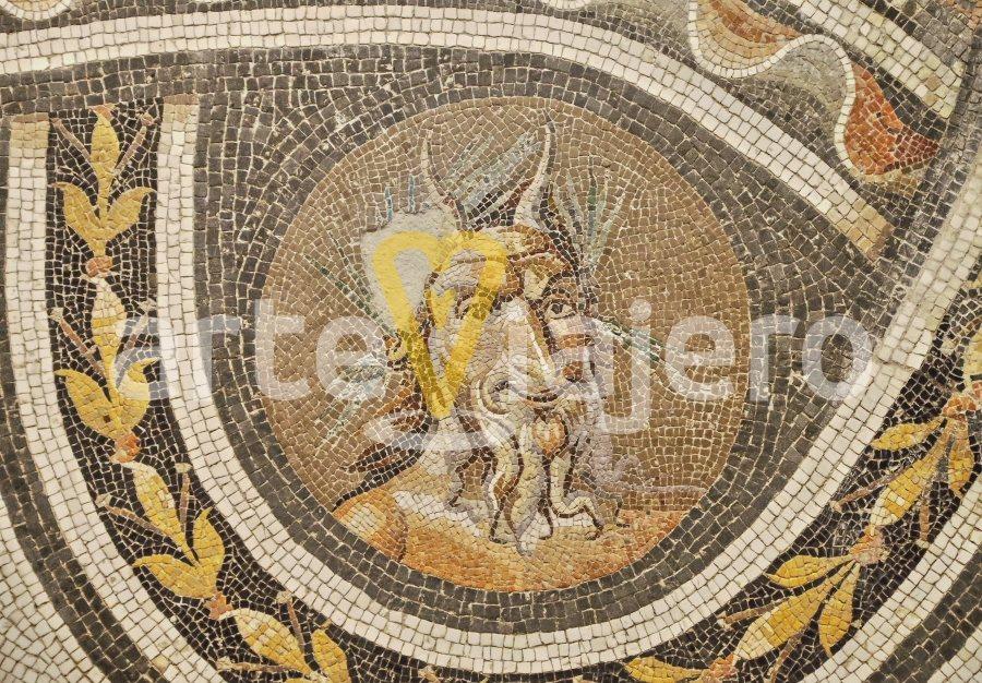 mosaico con el dios pan