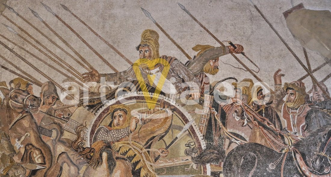 mosaico de la batalla de issos