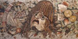mosaico romano de la máscara