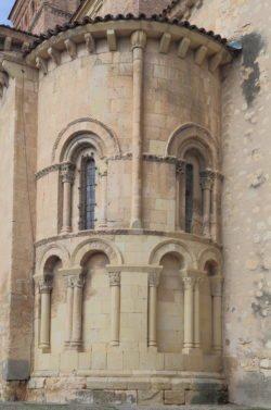 ábside de la iglesia de san martín segovia