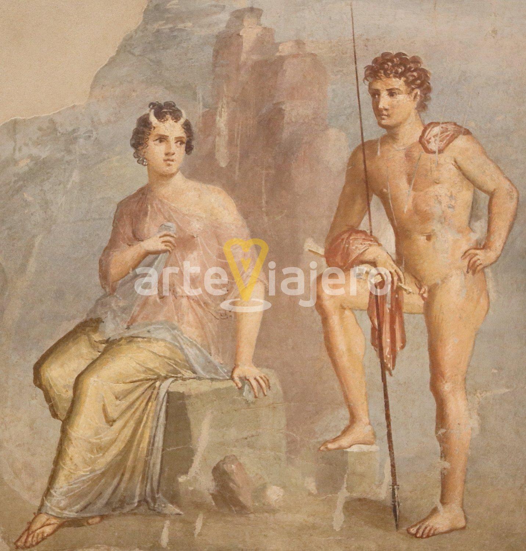 ío y argos, pintura de pompeya