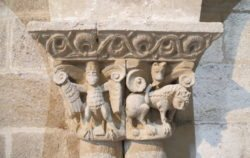 capitel iglesia de san claudio de olivares