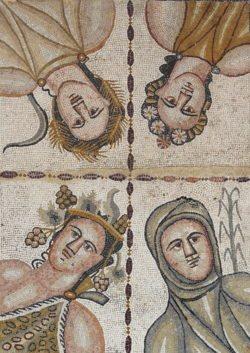 mosaico de las cuatro estaciones, complutum