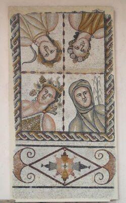 mosaico de las estaciones, casa de baco