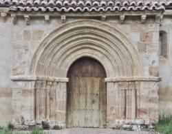 portada románica, iglesia de san andrés de gama