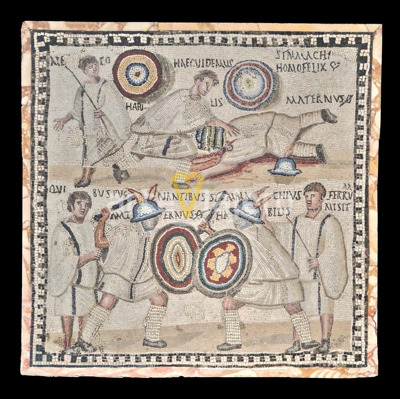 mosaico de los gladiadores