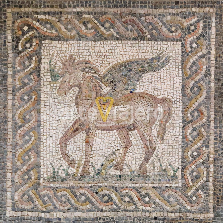 mosaico romano, pegaso