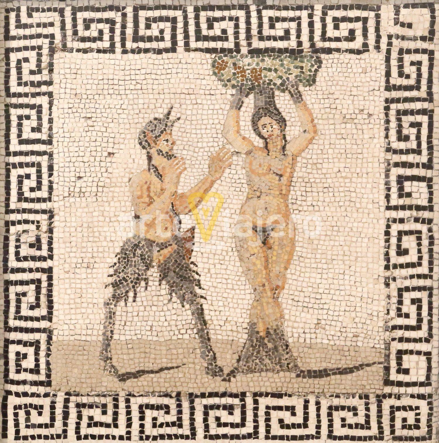 mosaico con pan y pitis