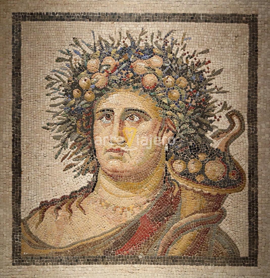 mosaico romano de vertumno