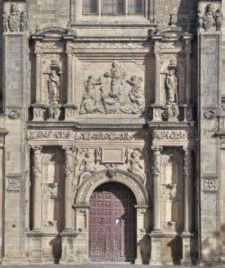 fachada de la sacra capilla del salvador de ubeda