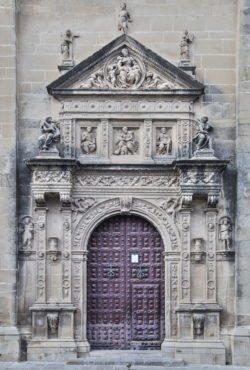 portada sur de la sacra capilla del salvador