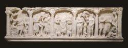 sarcófago paleocristiano, adán y eva