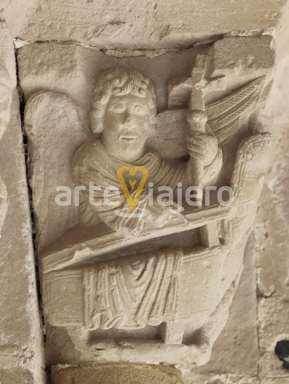 capitel románico, beleña de sorbe