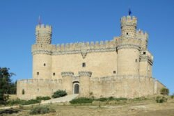fachada del castillo de manzanares