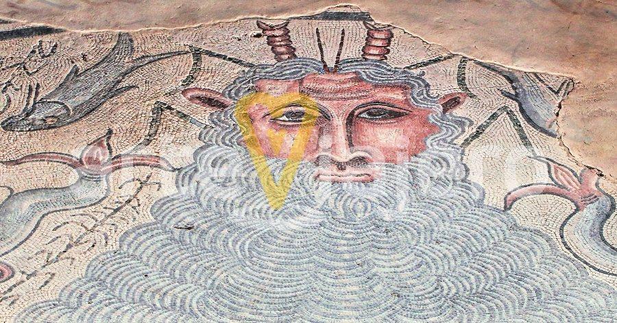 mosaico de océano casa de materno