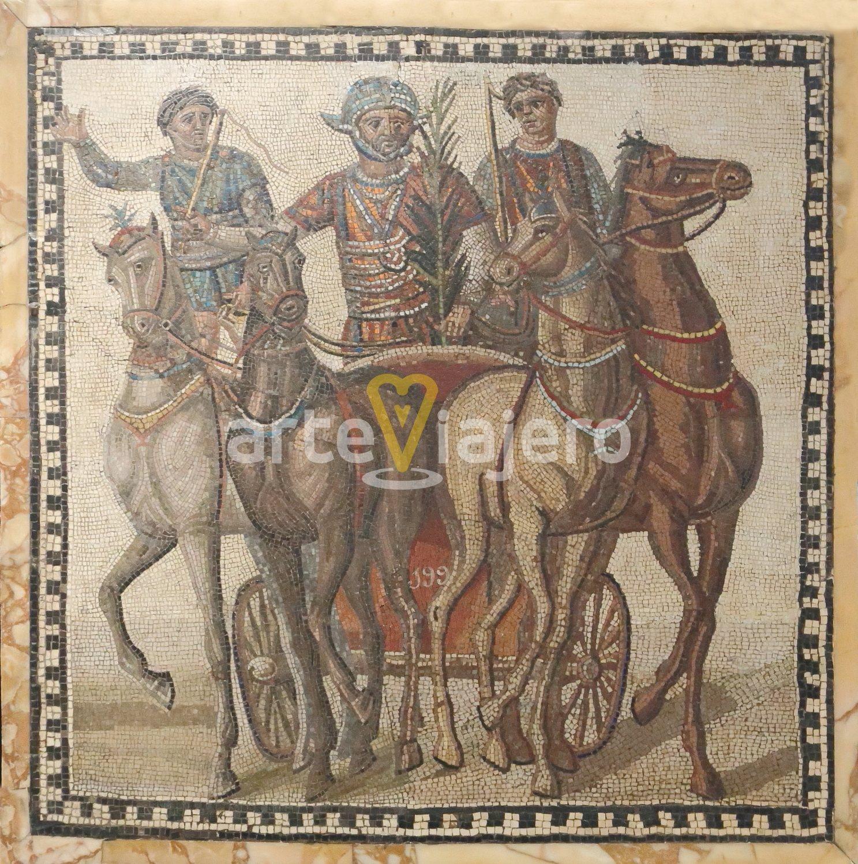 mosaico con cuadriga de la factio russata