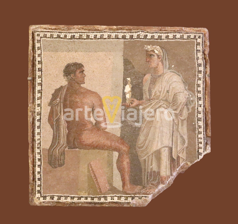 mosaico de orestes e ifigenia