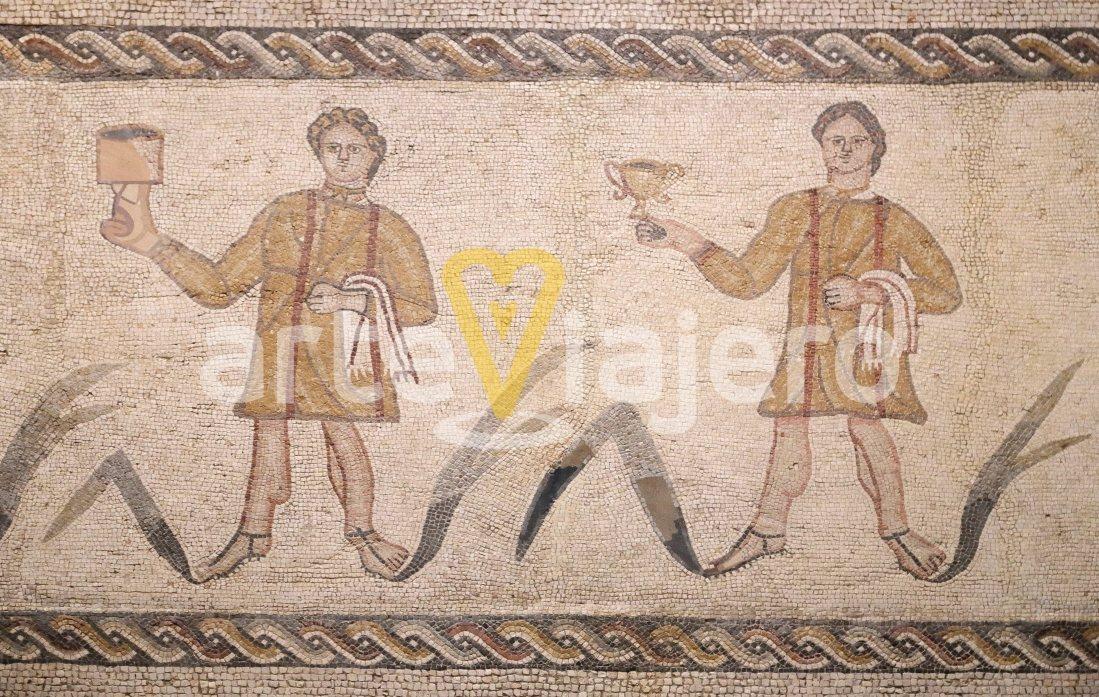 mosaico de los coperos, casa de baco
