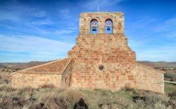 espadaña románica, ermita de tiermes