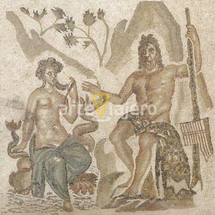 mosaico romano con polifemo y galatea