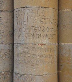 inscripción románica