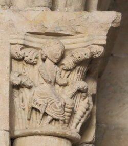 capitel románico, claustro salamanca