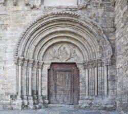 portada iglesia de santa maría de baldós, montañana