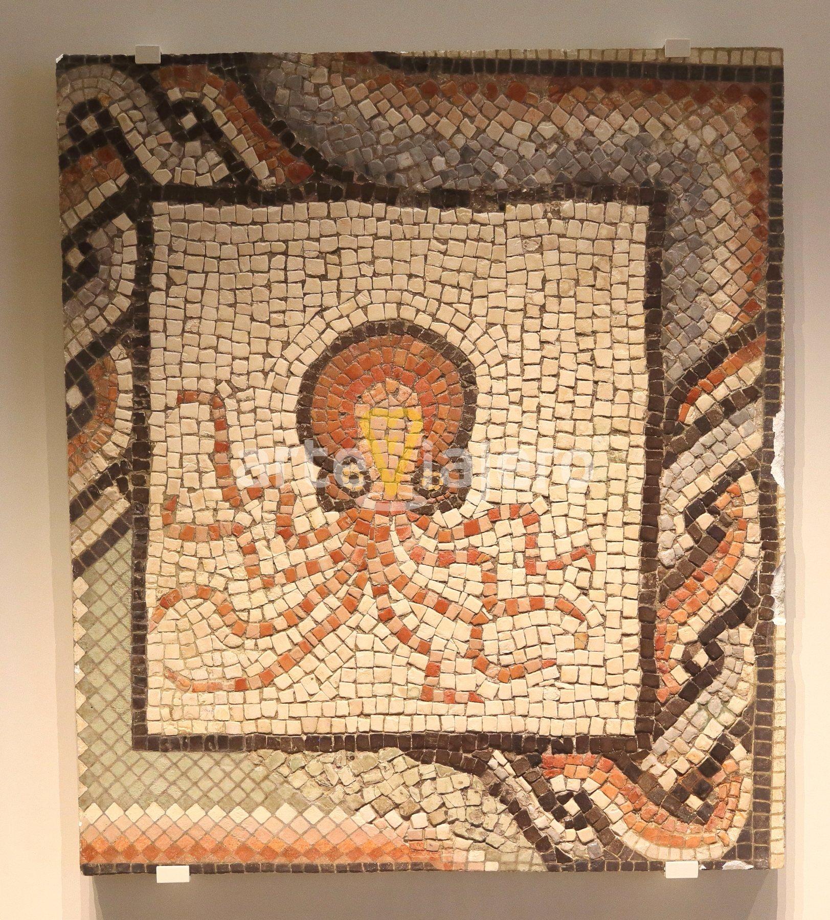 mosaico romano con pulpo