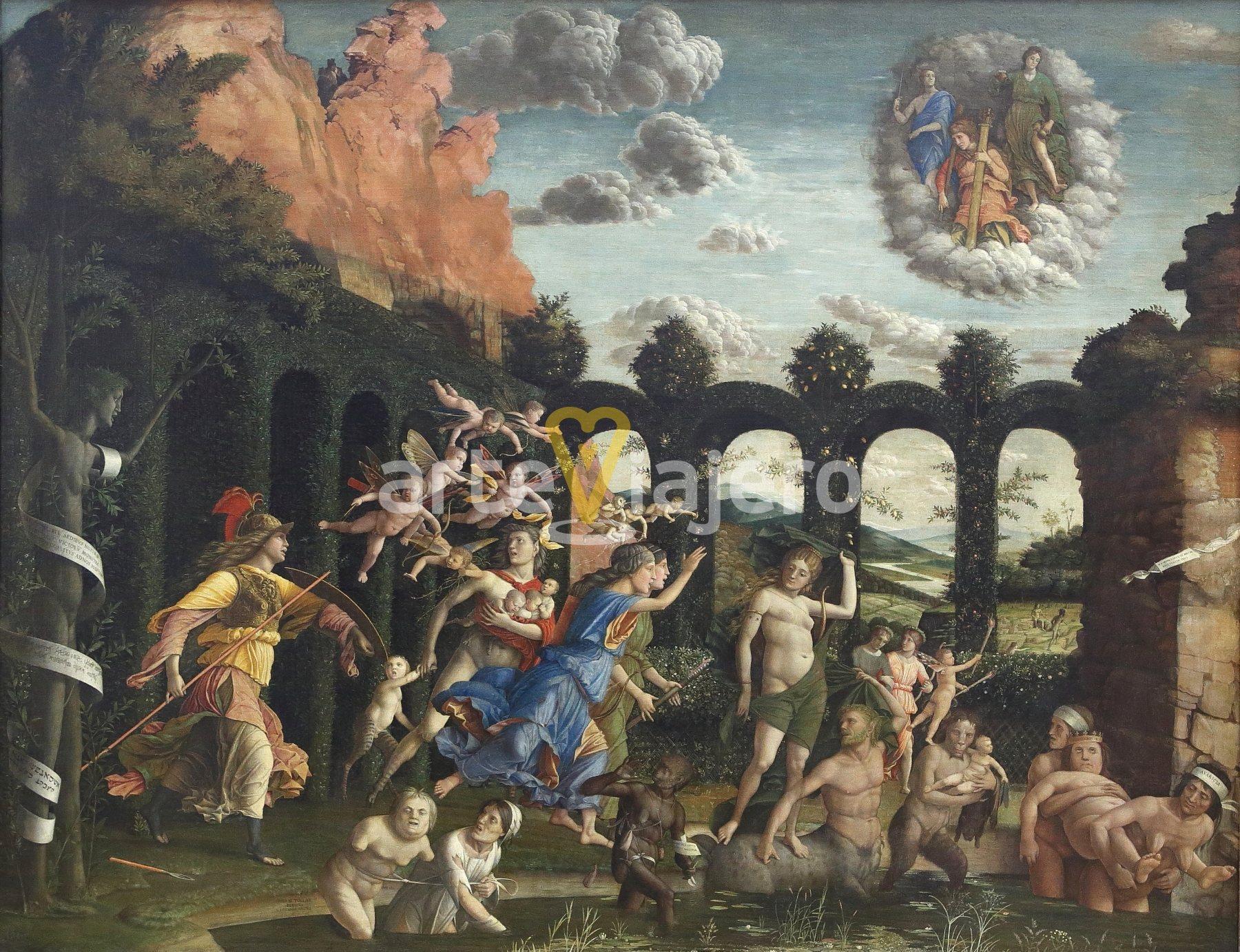 triunfo de la virtud, andrea mantegna