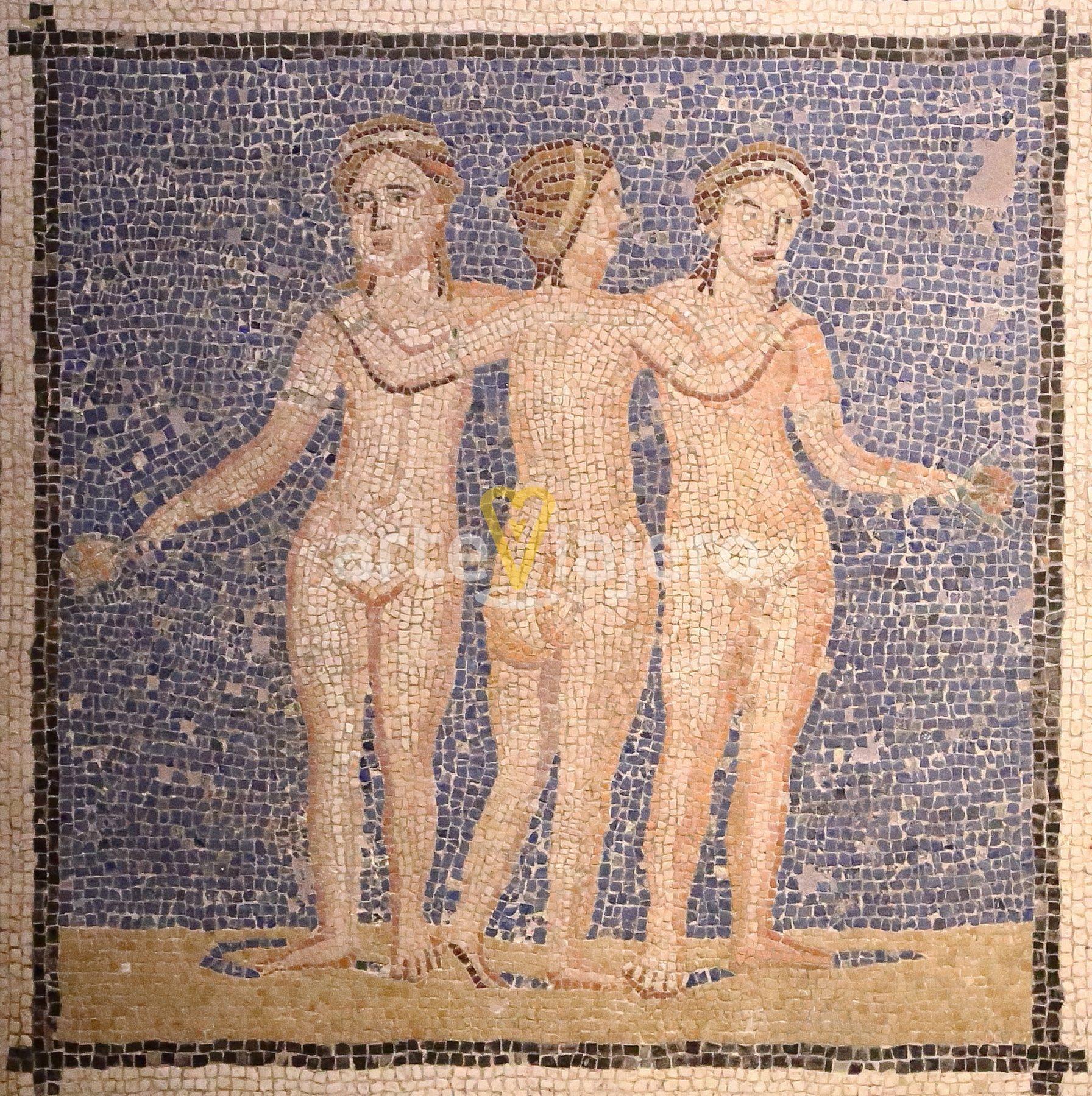 mosaico romano de las tres gracias