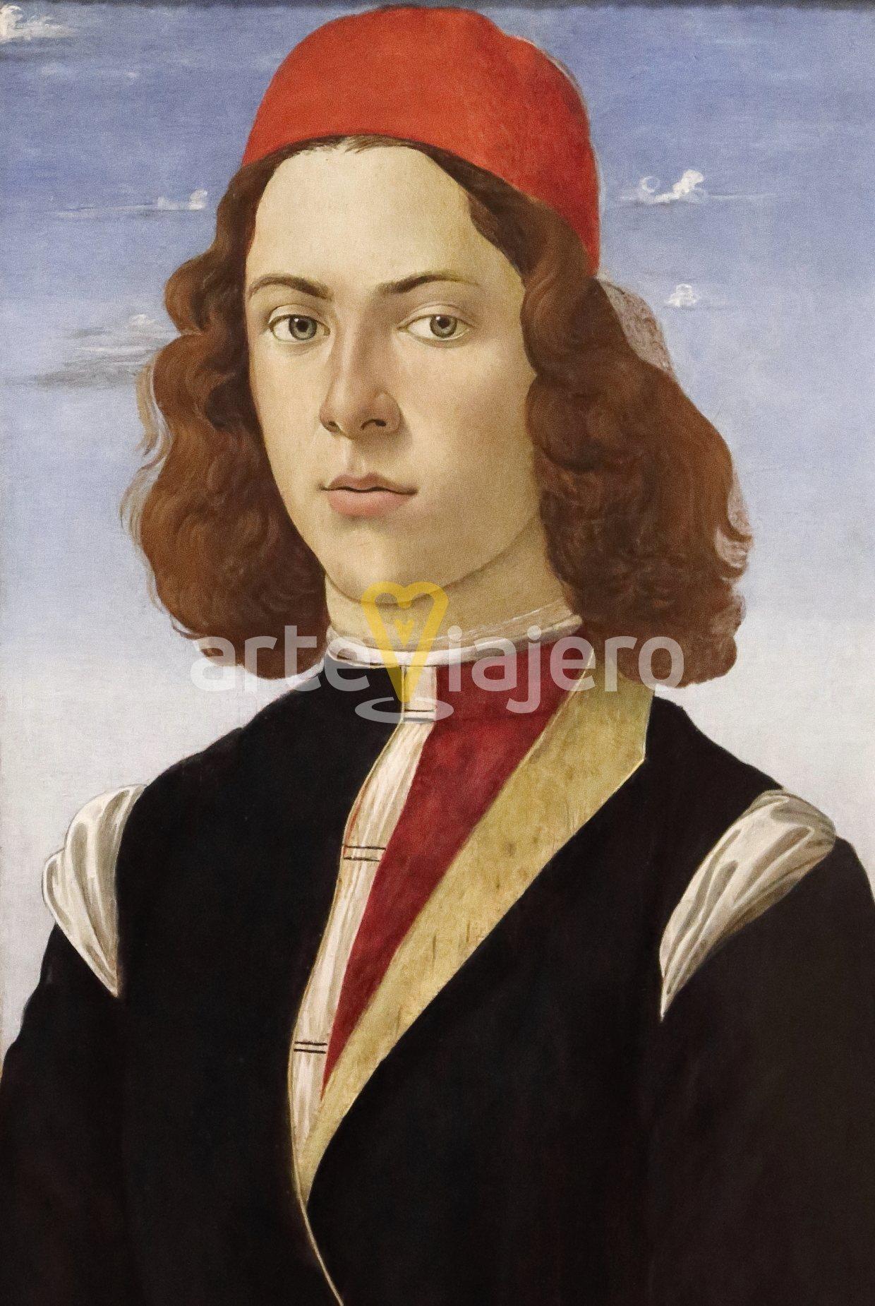 retrato de hombre joven botticelli