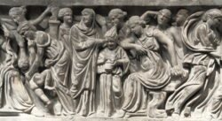 detalle del sarcófago di portonaccio