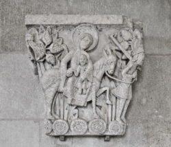 capitel de la huida a egipto autun