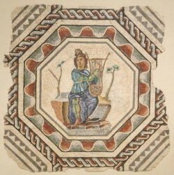 orfeo, mosaico de orfeo, musée gallo-romain