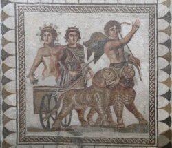 mosaico del triunfo de baco