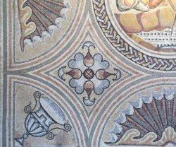 detalle de mosaico romano