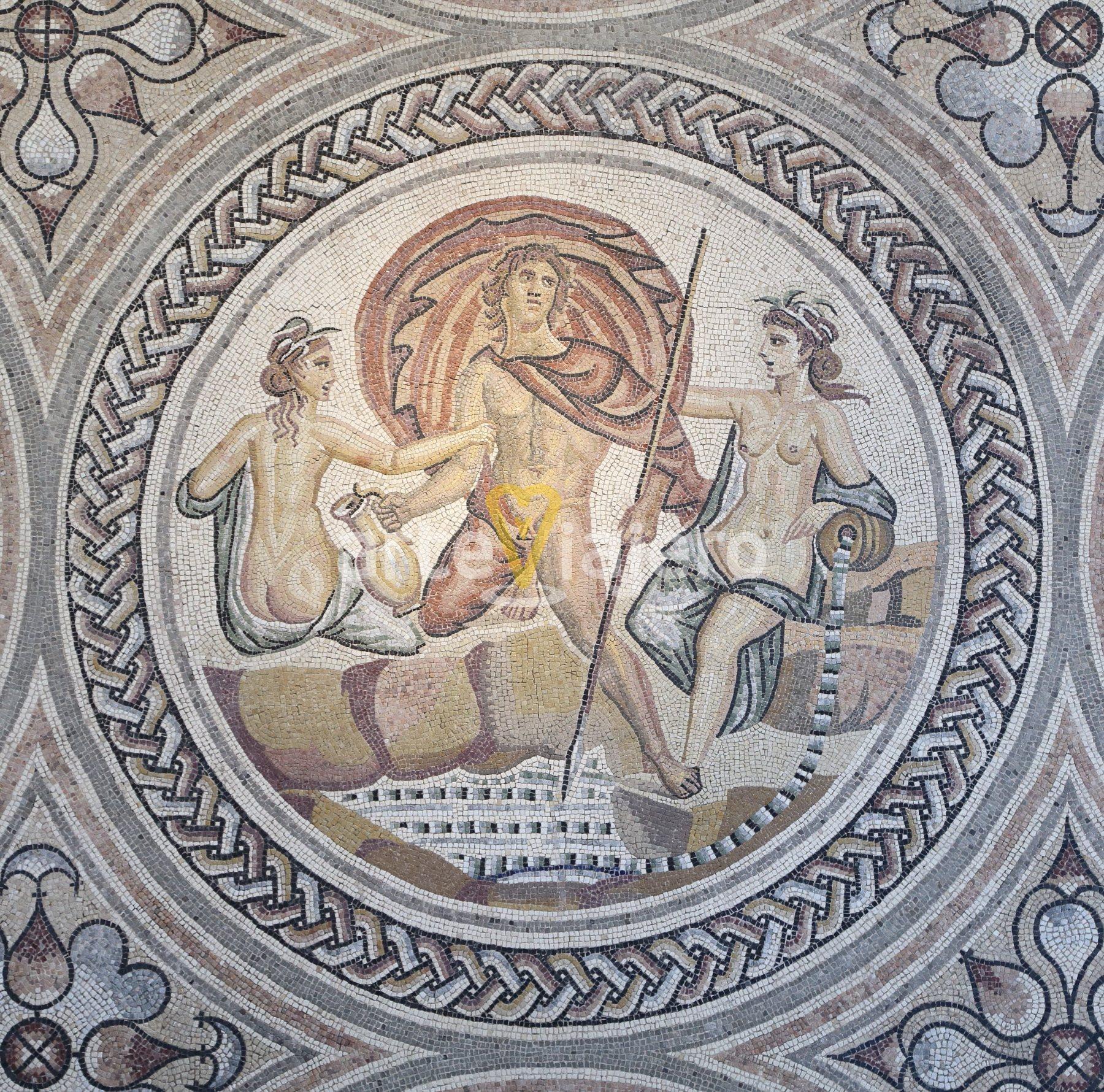 hilas y las ninfas, mosaico romano