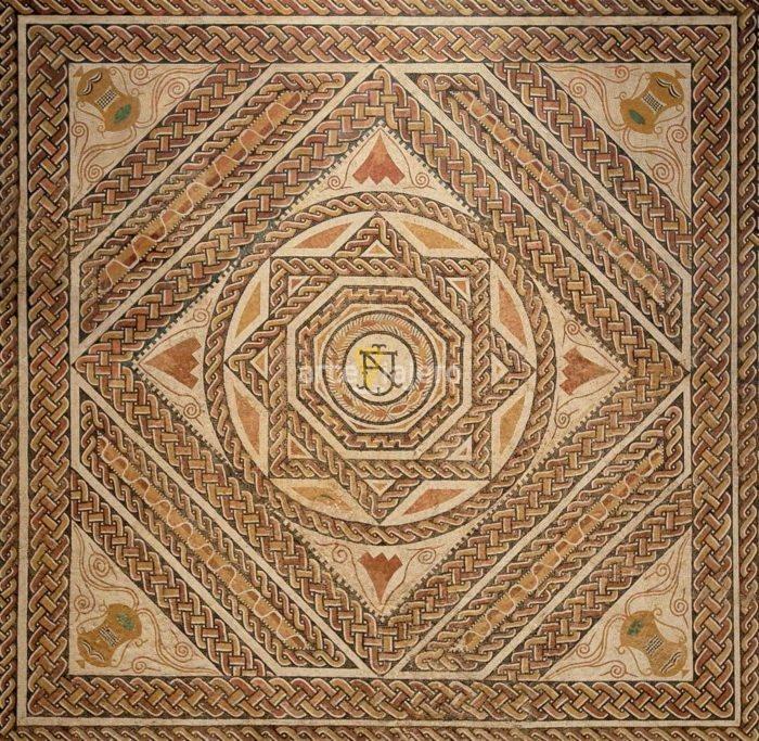 mosaico de cuevas de soria