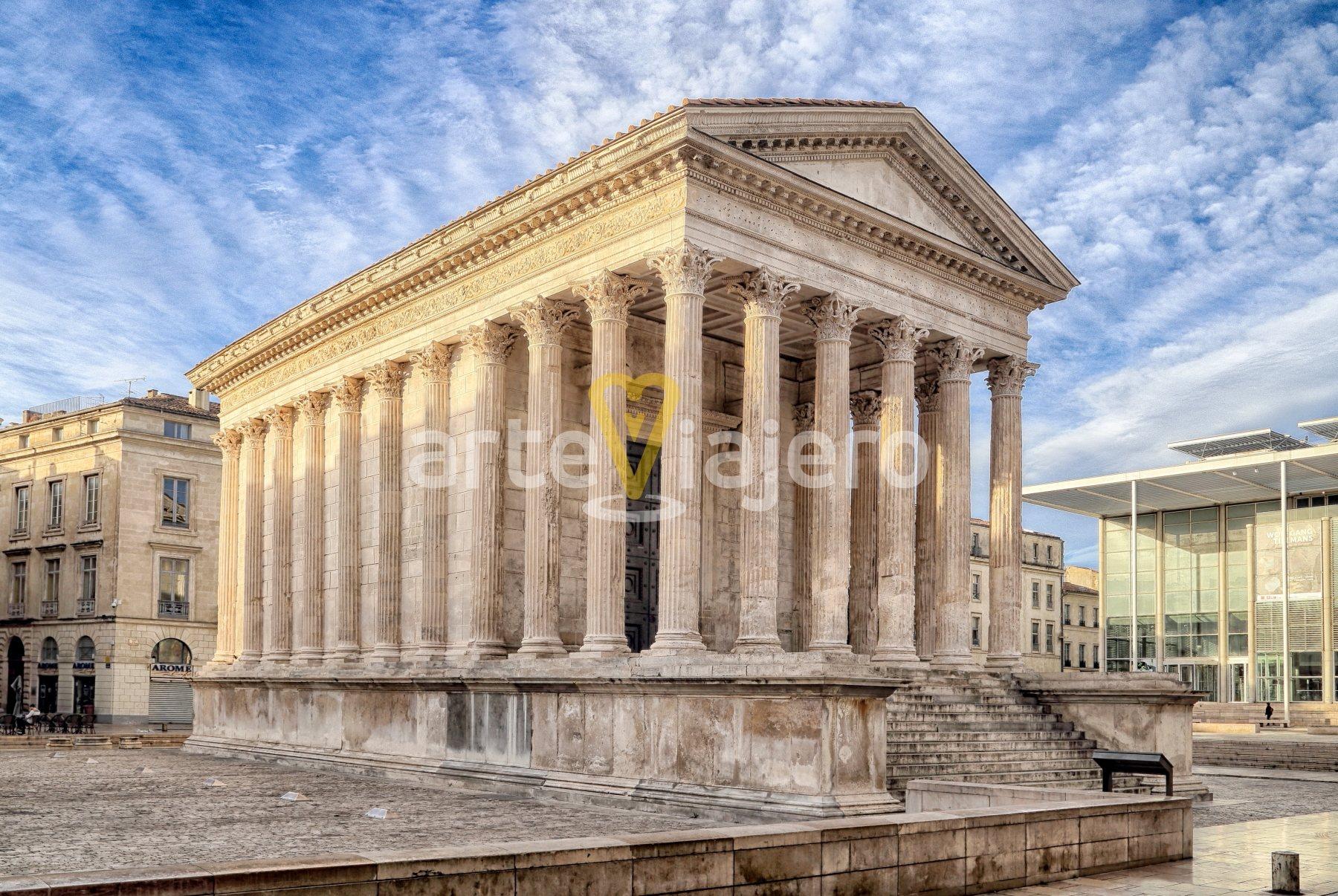 maison carrée, templo romano