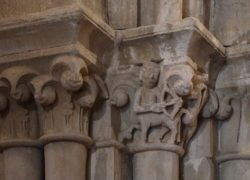 capiteles, colegiata de castañeda