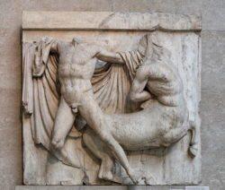 lucha ente centauro y lapita