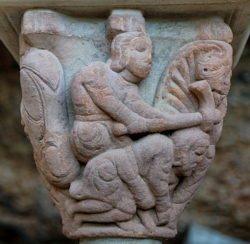 capitel, san juan de la peña