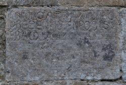 inscripción, ermita de nuestra señora del valle