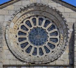 rosetón, monasterio de meira