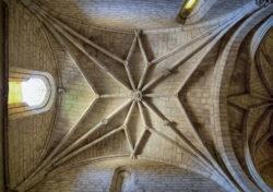 bóvedas de la iglesia