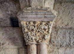 capitel románico, monasterio de santa cruz de la zarza