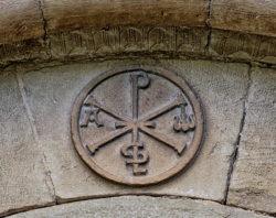 crismón trinitario, olcoz
