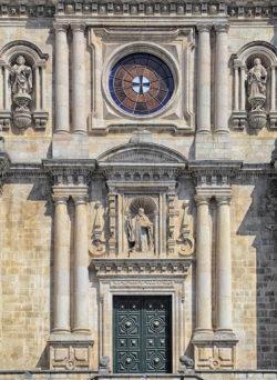 fachada barroca, monasterio de samos